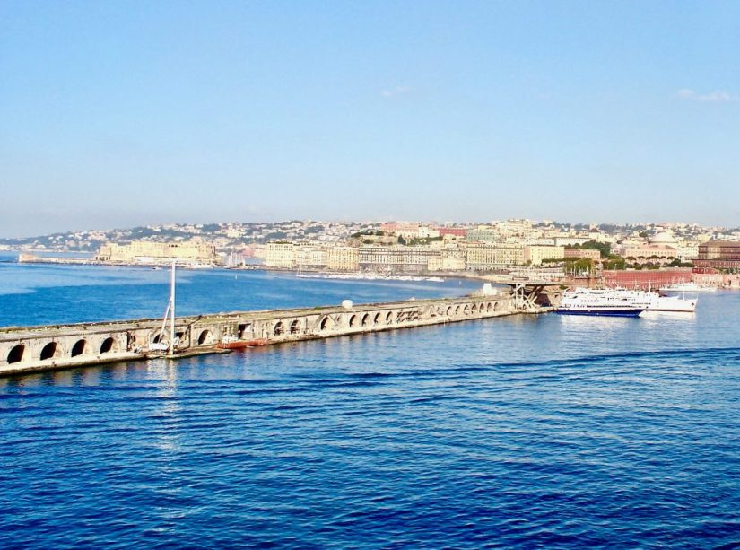 The Port of Naples, Italy