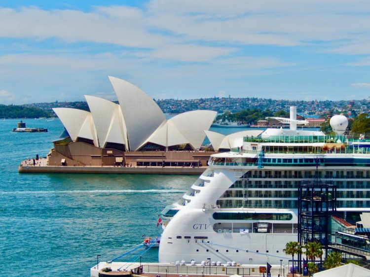 Cruise ship docked in Sydney Australia