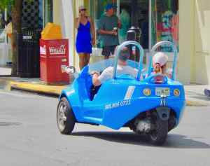 Getting around Key West has a number of odd options