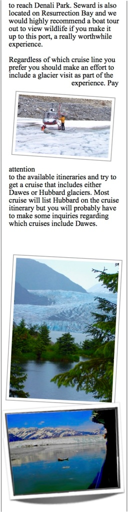 Mendenhall glacier - a short bus ride out of Juneau.