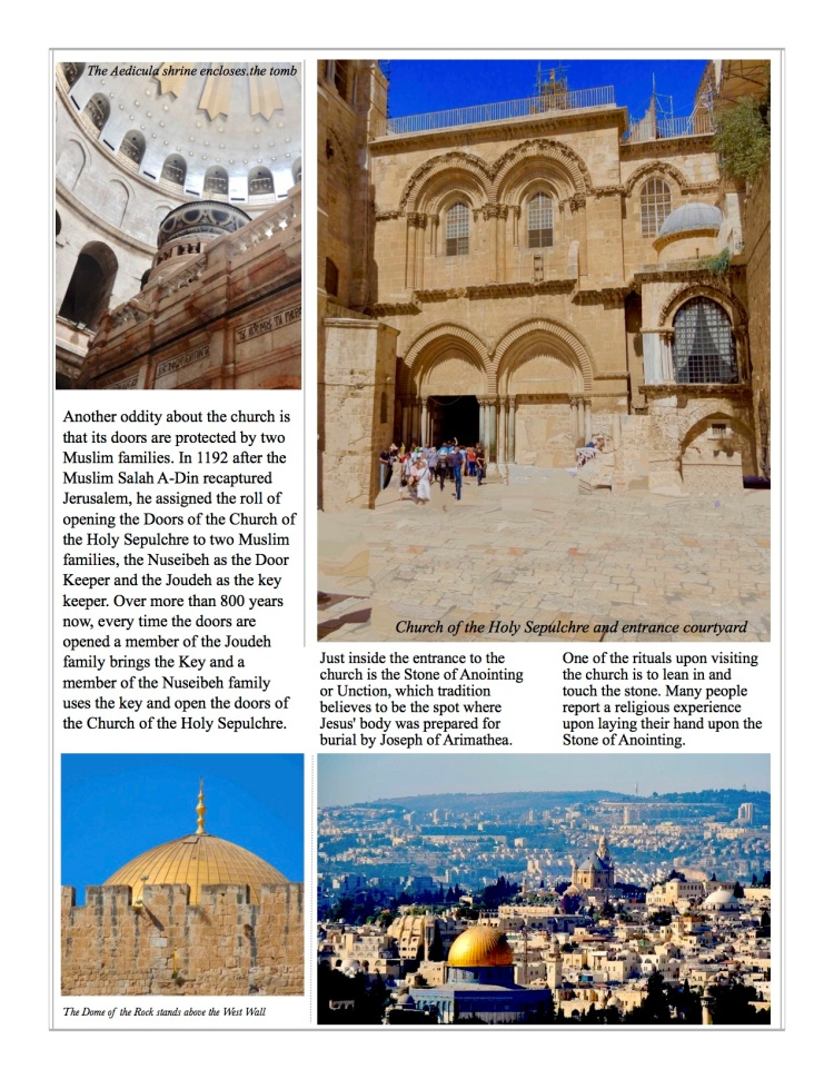 Stories from the road about the Church of the Holy Sepulchre in Jerusalem