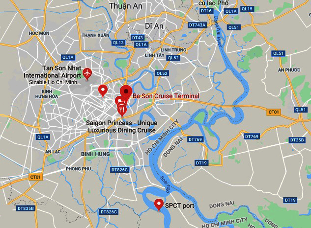 Map Ho Chi Minh City region