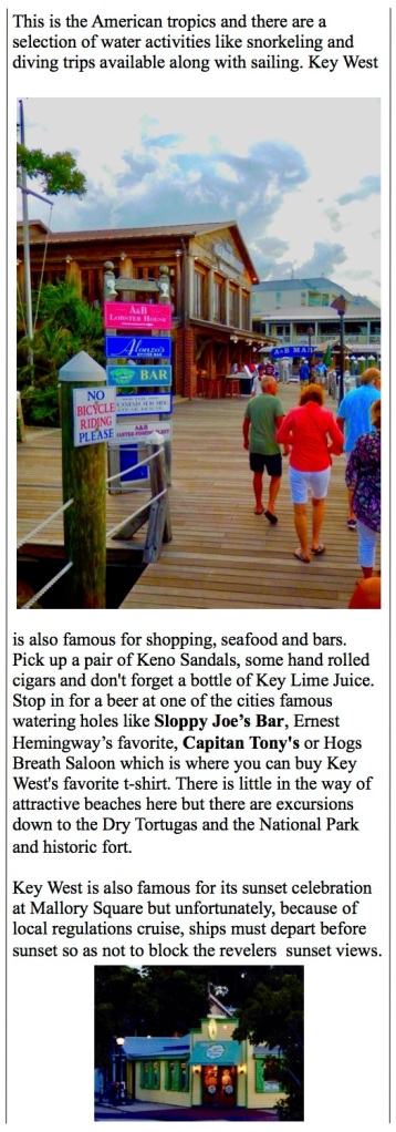 Key West attractions and shopping...