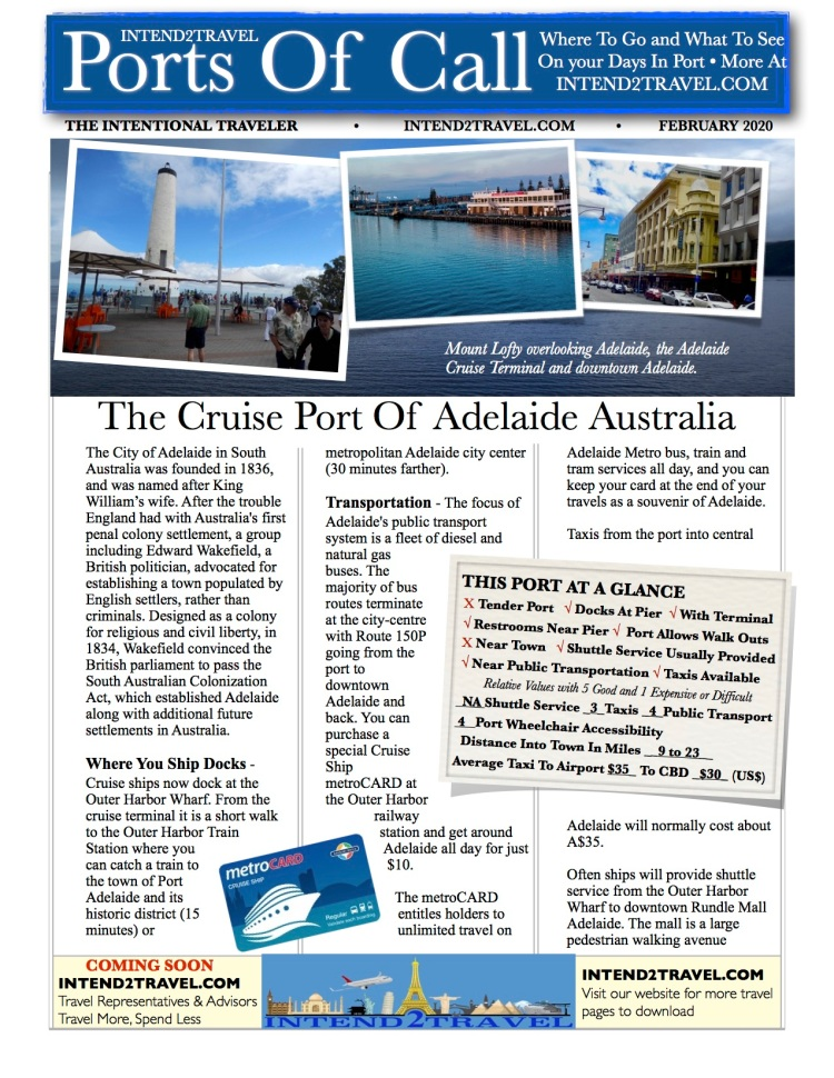 Things to do and attractions to visit on your day in the port of Adelaide Australia.