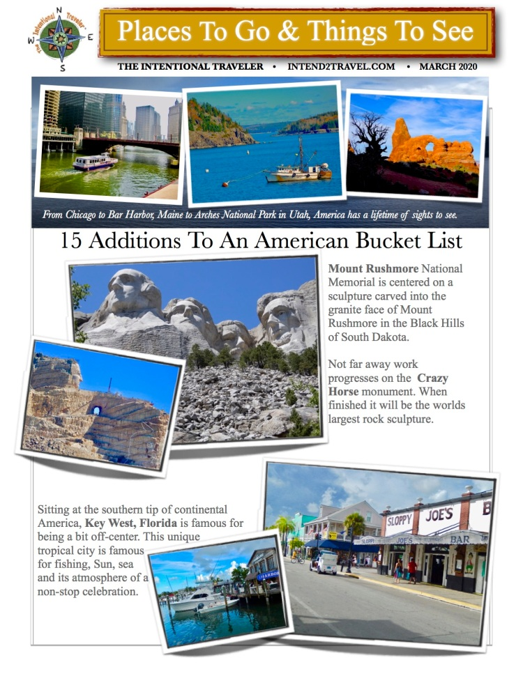 American bucket lists should  include Mt Rushmore, Key West