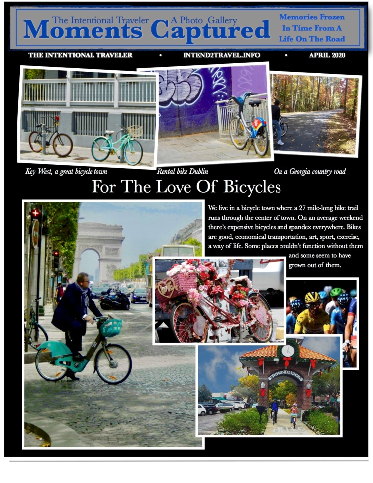 Images of bicycles from Key West to Amsterdam. Dublin to Tarpon Springs.