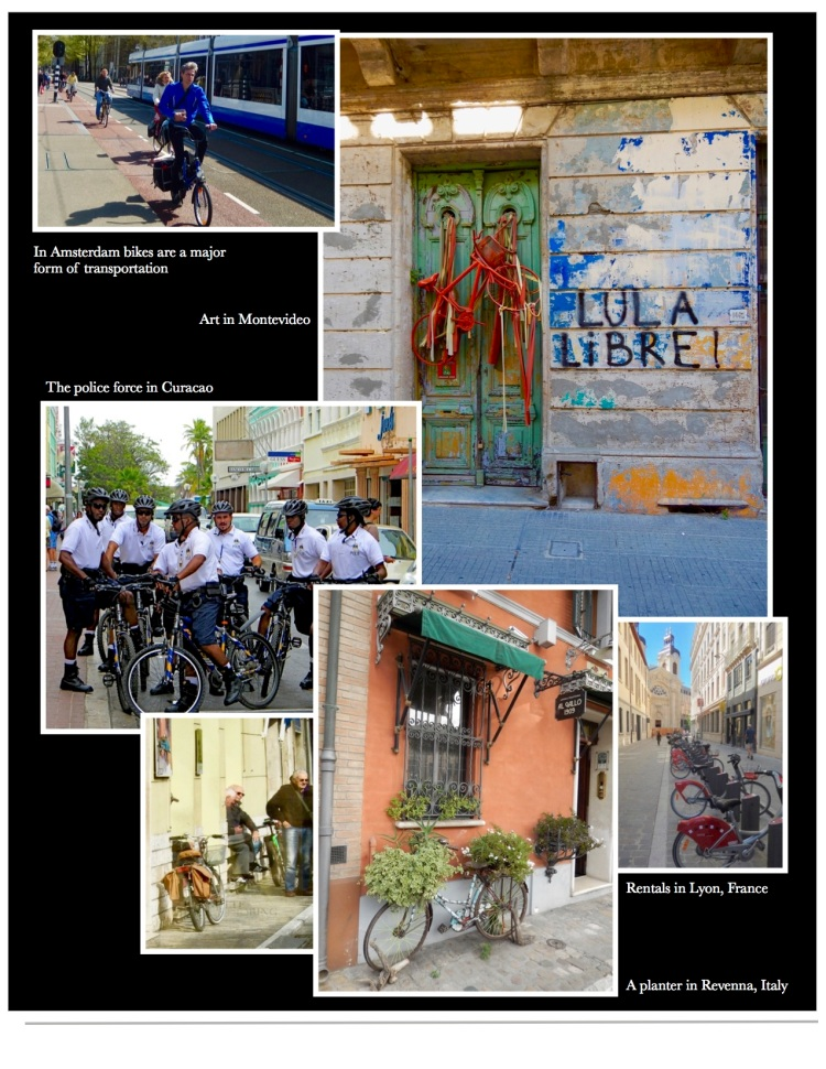 Images of bicycles from Key West to Amsterdam. Ravenna to Montevideo.