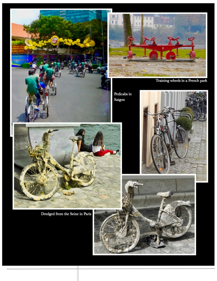 Images of bicycles from Key West to Amsterdam. Paris to Saigon.