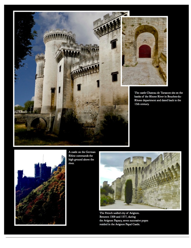 Castles pictured from the Rhone region of France.