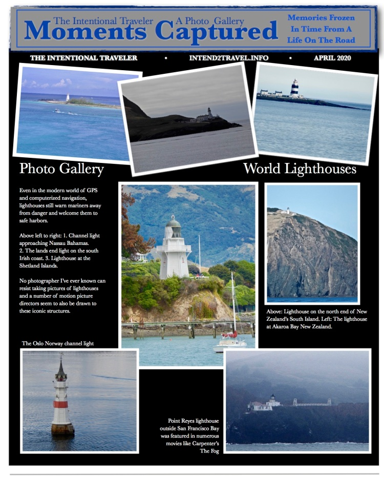 Lighthouses in New Zealand, Antarctica, the Caribbean and more.