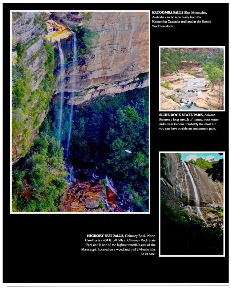 Waterfalls from North Carolina to Australia.