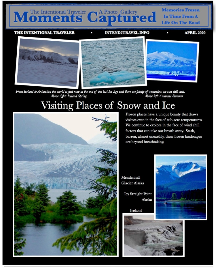 Photographs snowfields, glaciers and Antarctica