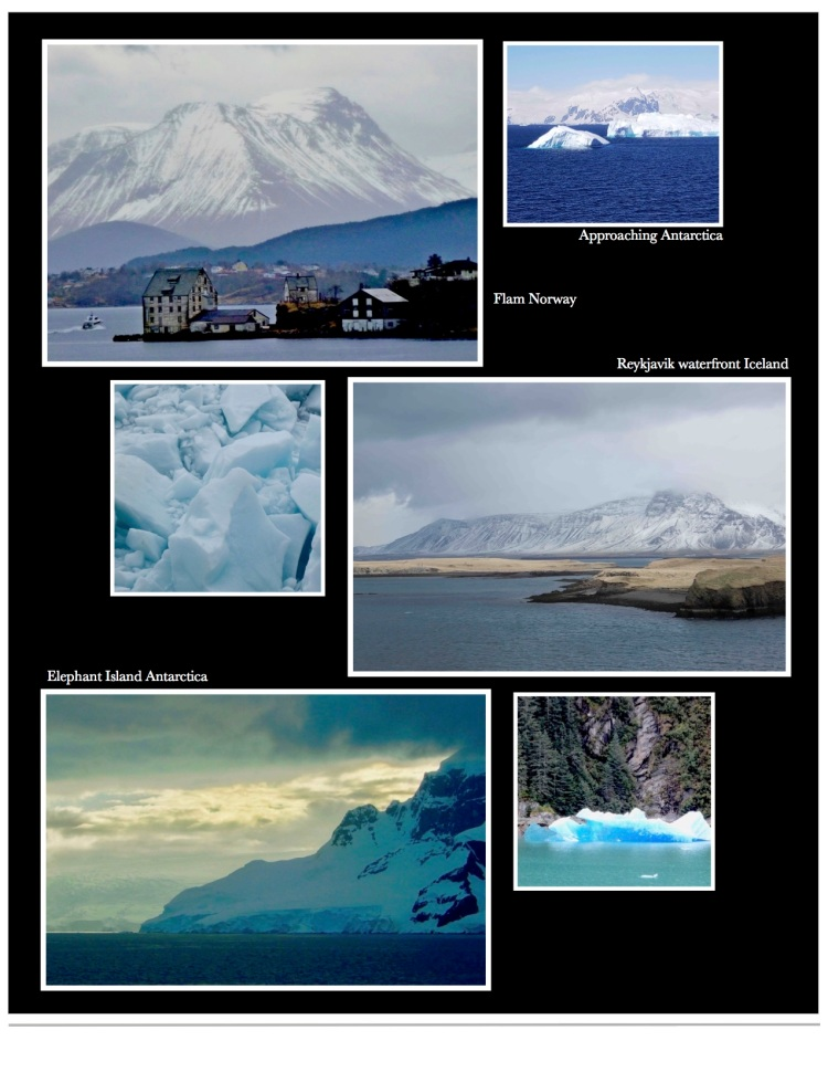 Photographs Norway, Iceland, snowfields, glaciers and Antarctica