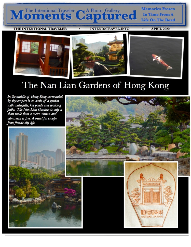 An oasis amidst skyscrapers in the middle of Hong Kong the Nan Lian Gardens features winding paths, waterfalls and koi ponds for an escape from the frantic streets in Hong Kong.