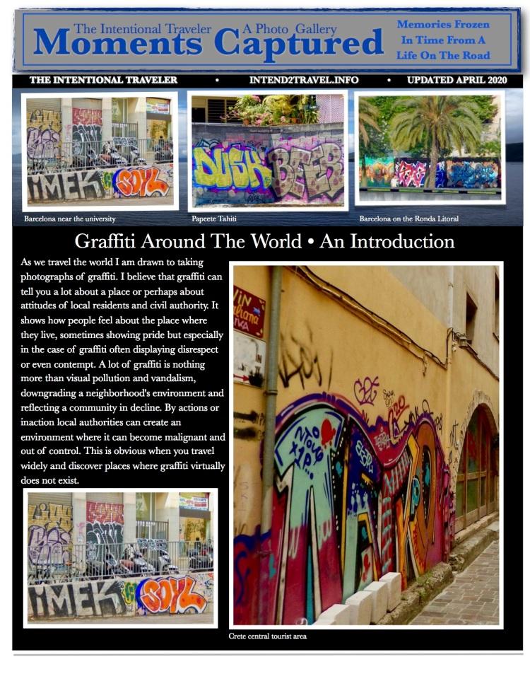 Graffiti, Barcelona, Tahiti, Crete, #intend2travel,