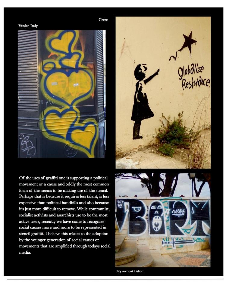 Graffiti, Crete, Venice, Lisbon