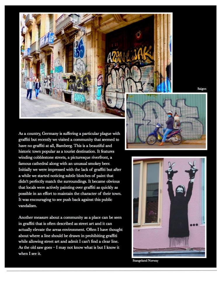 Graffiti, Norway, Saigon, Barcelona