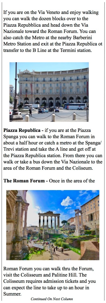 Seeing Rome - Roman Forum, Spanish Steps, Via Veneto
