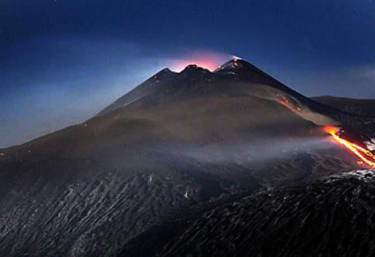 Mount Etna erupts.