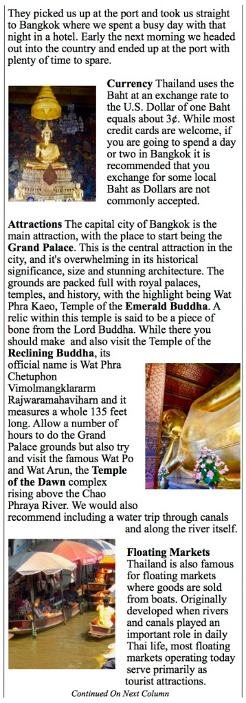 temples, palaces and the port and what to expect in Bangkok Thailand