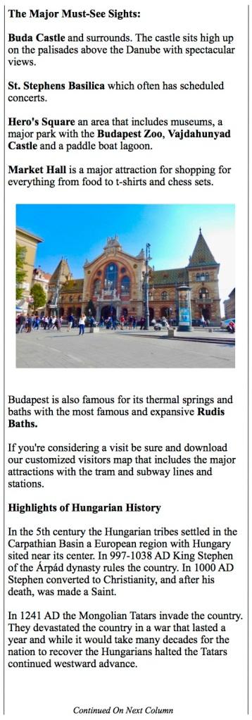 Budapest's Market Hall. History of Hungary.
