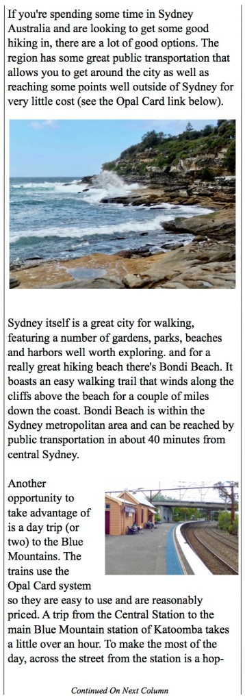 Great hikes around Sydney from Bondi Beach to The Blue Mountains