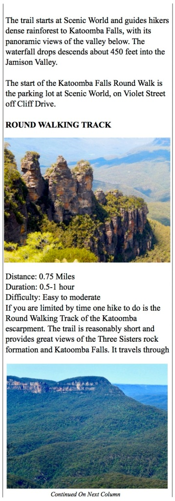 Great hikes around The Blue Mountains like Katoomba Falls Trail