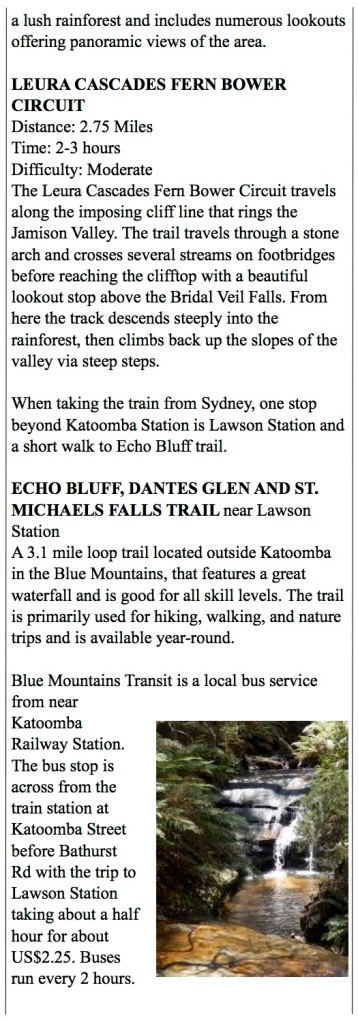 More great hikes around The Blue Mountains