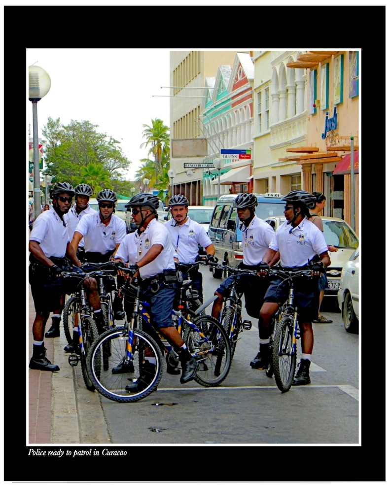 Bicycle police in Curacao
