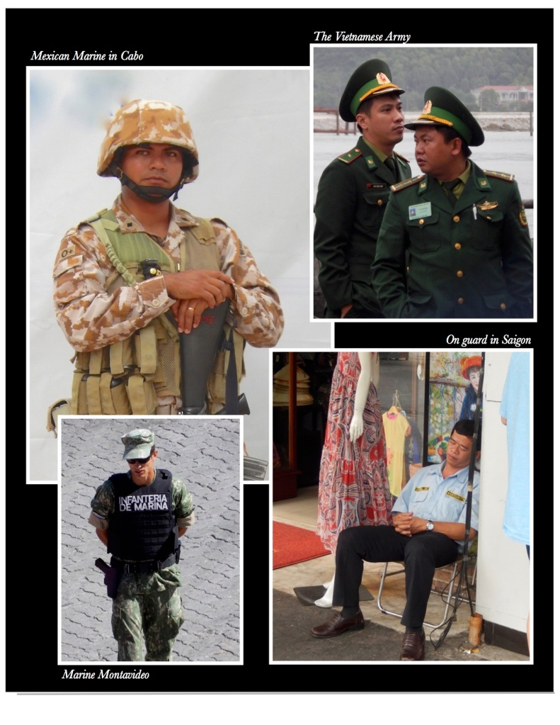 Military and as a security guard