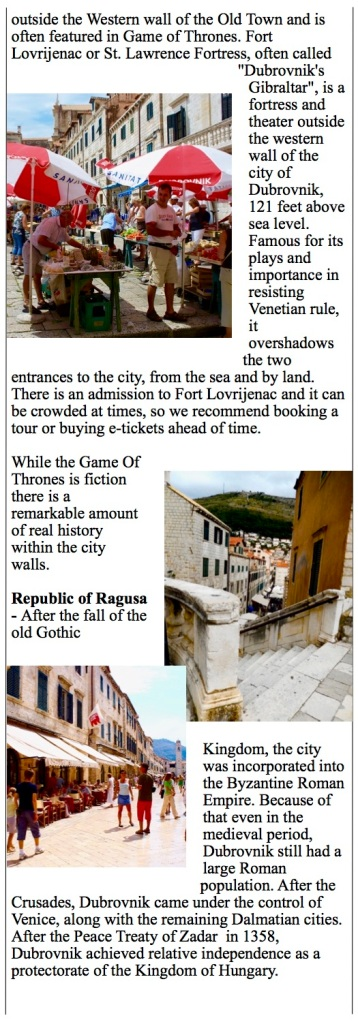 Dubrovnik, Croatia the old fortified city and a popular cruise port of call