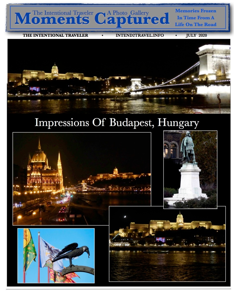 Budapest is the heart of Hungary with the Danube flowing through it.