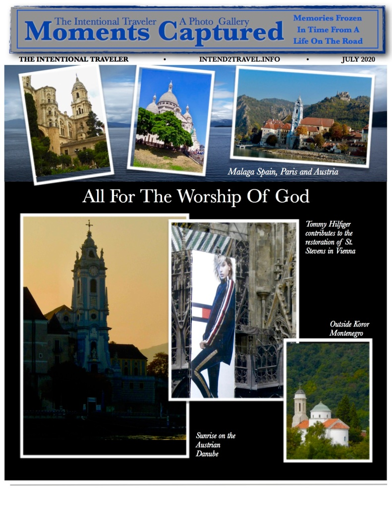Featuring churches in Europe from Vienna to Malaga to Paris