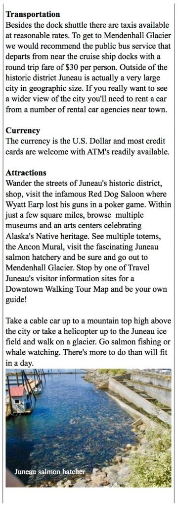 Juneau walking tour, Red Dog Saloon, Alaska Native Heritage center.