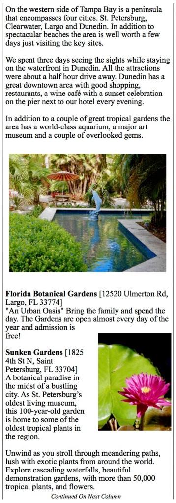 Tampa - St Pete, Florida Botanical Gardens, Sunken Gardens, Florida Aquarium