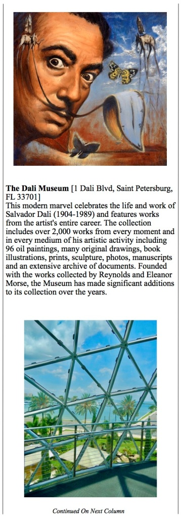 Tampa - St Pete, Florida Dali museum