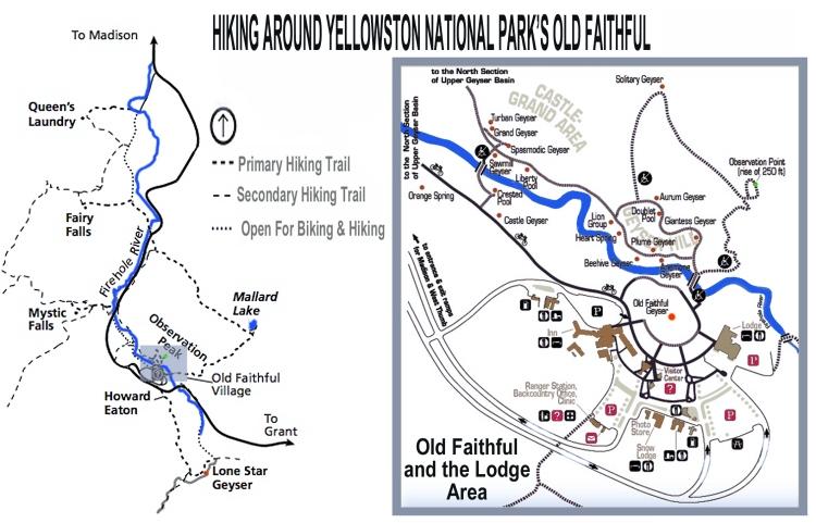 yellowstaone hiking maps