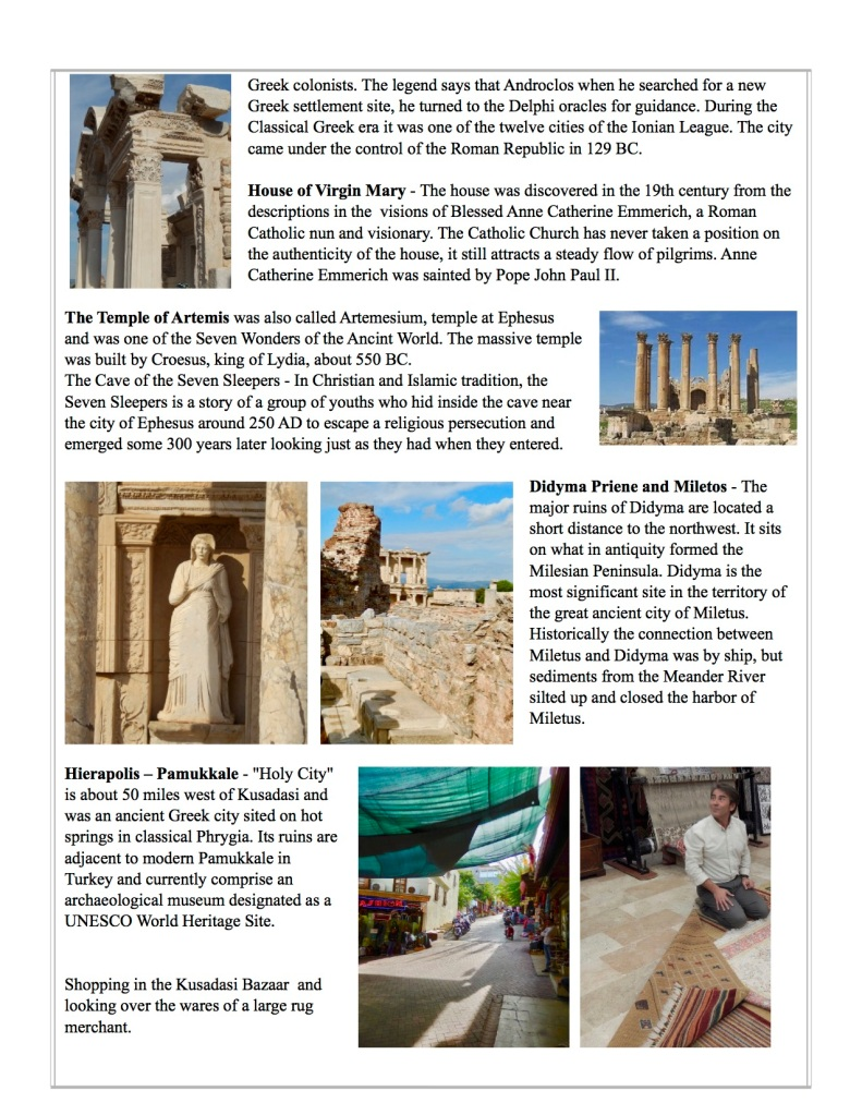 Ephesus, temple of artemis, house of the Virgin Mary
