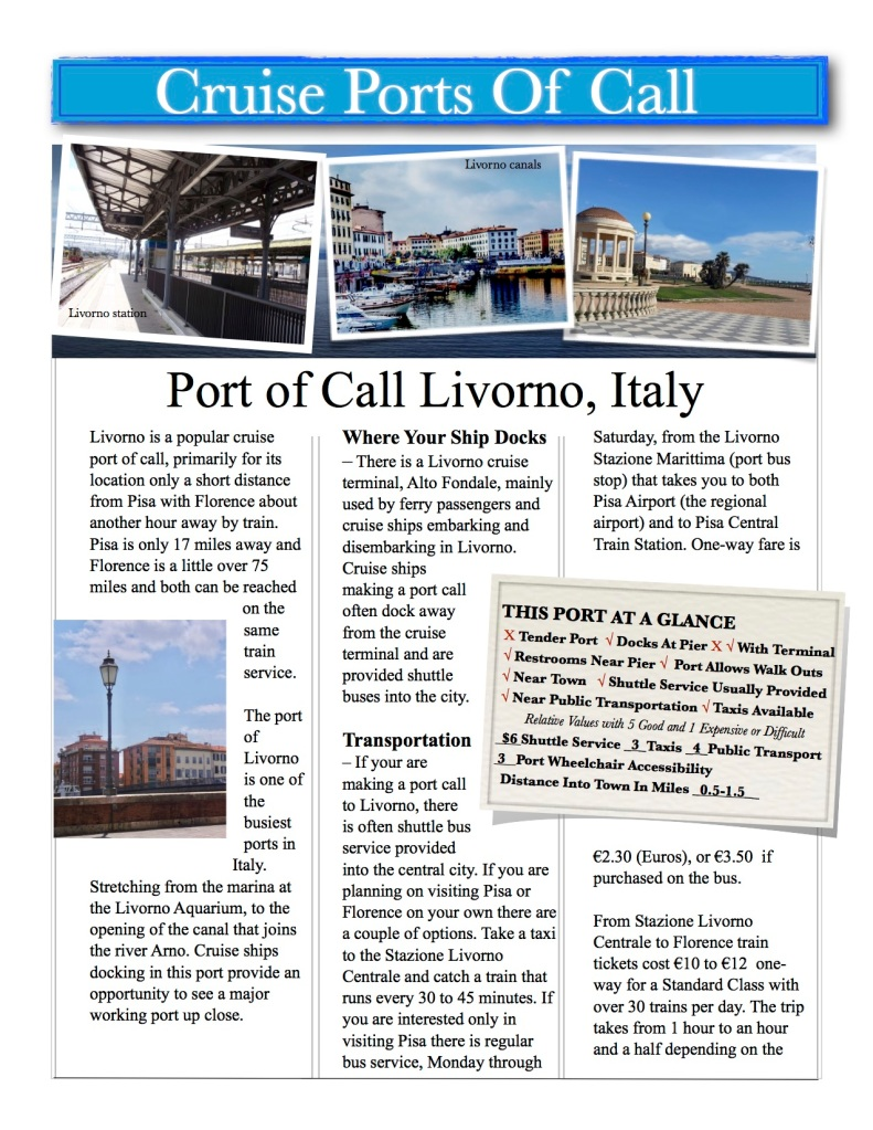 Livorno Italy gateway to Florence and Pisa