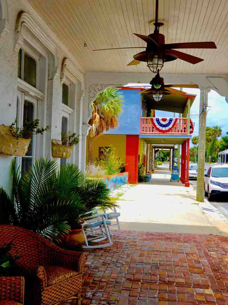 Main Street in Cedar Key Florida on a summer afternoon
